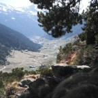 Incles Valley Through the Trees