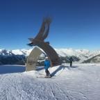 We also skied the black slope Aliga
