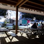 Sol I Neu terrace - perfect spot for watching the Slalom and Giant Slalom races on Avet