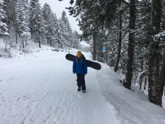 Walking up the blue slope El Bosc