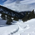 Off-piste from the Rossinyol run in Canillo