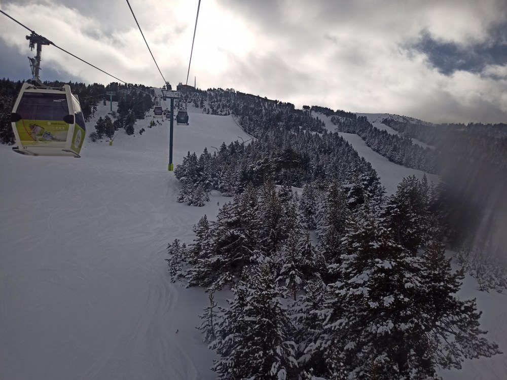The gondola of Soldeu was open today