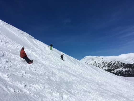 Still riding off piste in April
