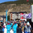Gathering crowds ready to watch the Men's Super G Finals 14.03.2019