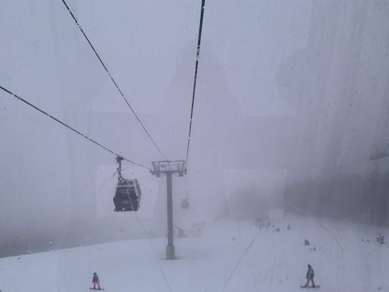A snowy day on the Soldeu gondola