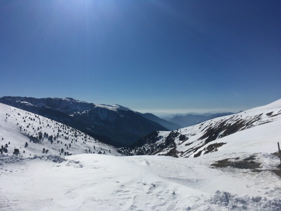 View from bottom of Els Clots chairlift