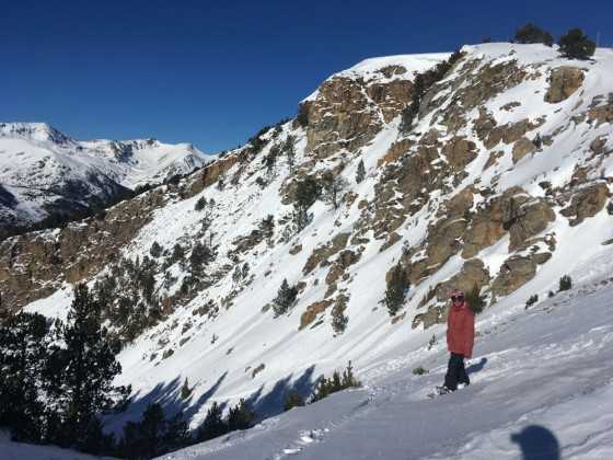 Checking out the off-piste in Canillo
