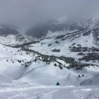 Exploring the valleys of El Tarter (Isards red run to the left)