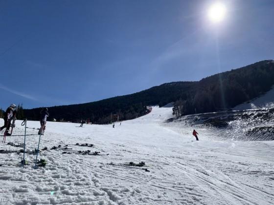 The bottom of L'Aliga slope